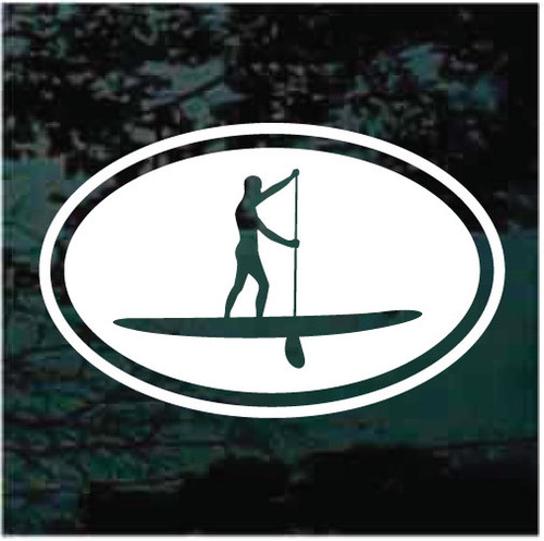Paddleboarding Oval Window Decals