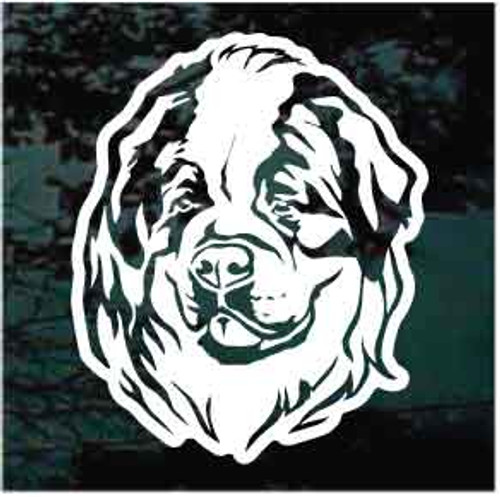 Sweet St. Bernard Head Window Decals
