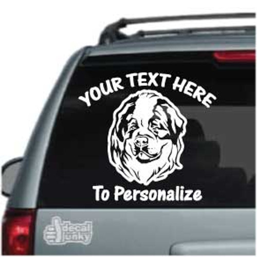 Sweet St. Bernard Head Car Decals