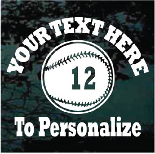 Softball 01 Arched Rockwell Text