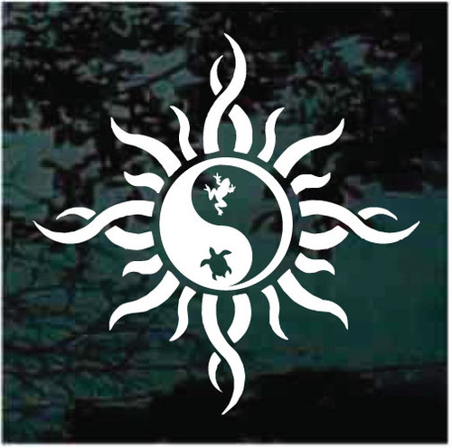 Frog Turtle Tribal Sun Yin Yang Decals
