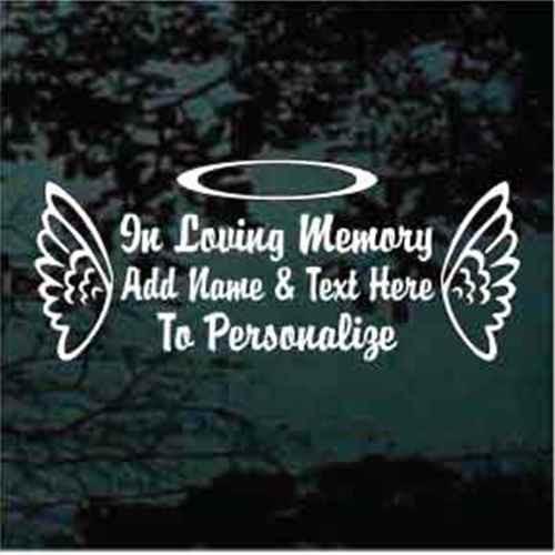 Angel Wings Outlined Memorial