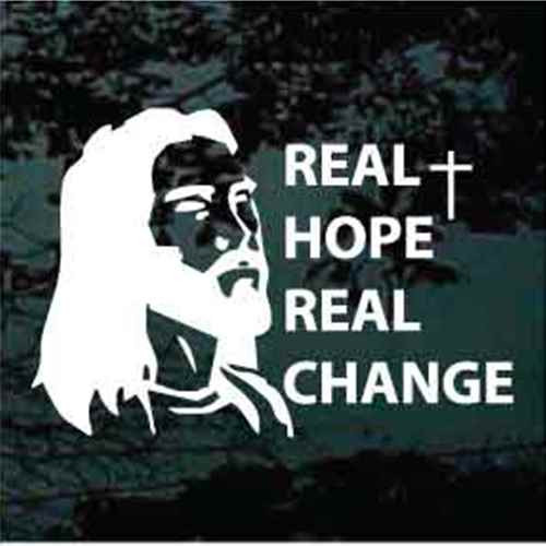 Jesus Real Hope Real Change Decals