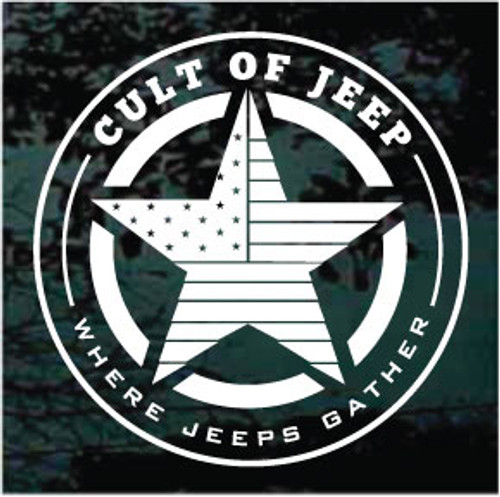 Cult of Jeep Shield Decals