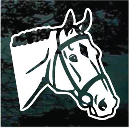 English Horse Head Diamond Decals
