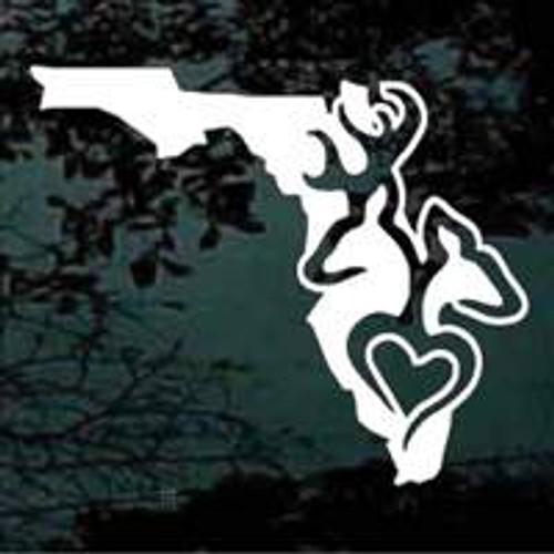 Florida State Deer Hunter With Buck Doe Heart