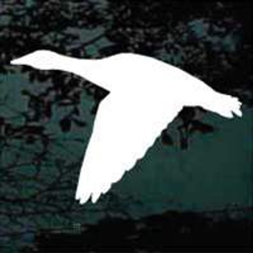 Solid Flying Goose Silhouette Decals