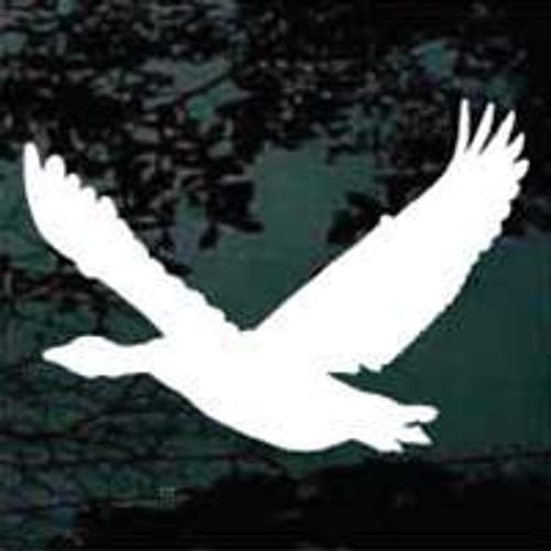 Goose In Flight Silhouette Window Decals