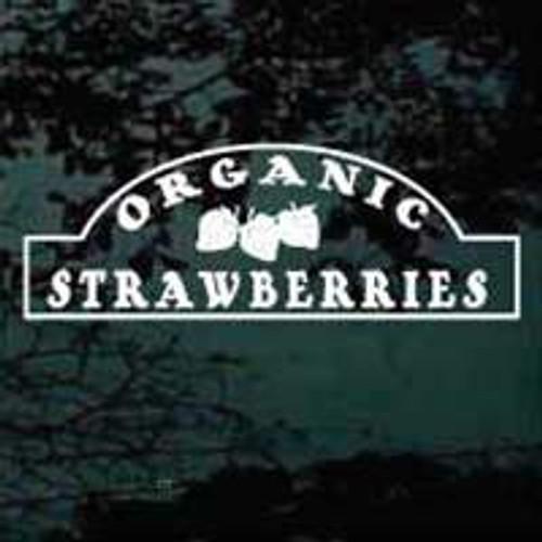 Organic Strawberries Sign