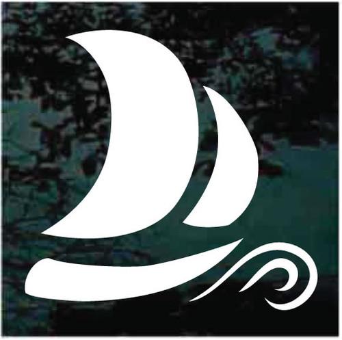 Ornamental Sailboat Decals
