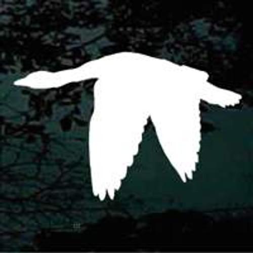 Goose Flying Silhouette Window Decals