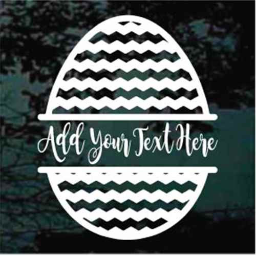 Chevron Easter Egg Border Decals