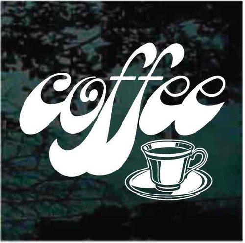 Coffee Window Sign Decals