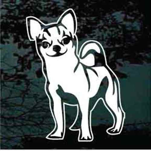 Sweet Spotted Chihuahua Window Decals