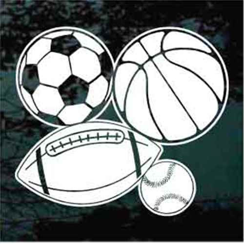 Baseball Basketball Football Soccer Window Decals