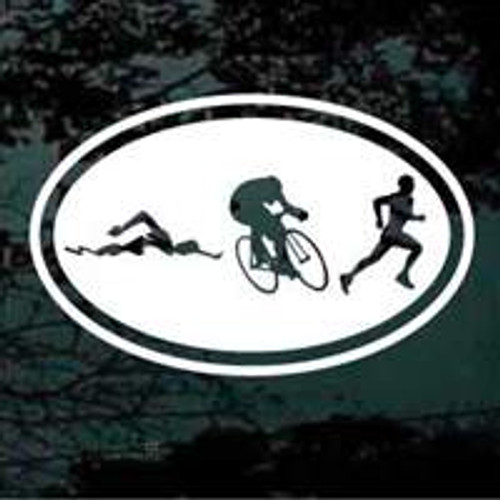 Oval Swim, Bike, Run Triathlon