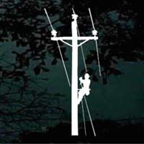 Lineman Climbing Pole