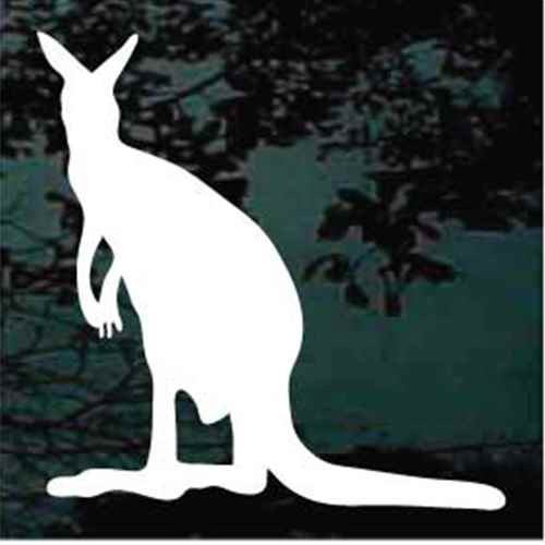 Sitting Kangaroo Window Decals