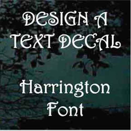 Harrington Vinyl Lettering Decals