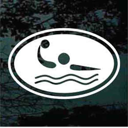 Water Polo Oval Decals