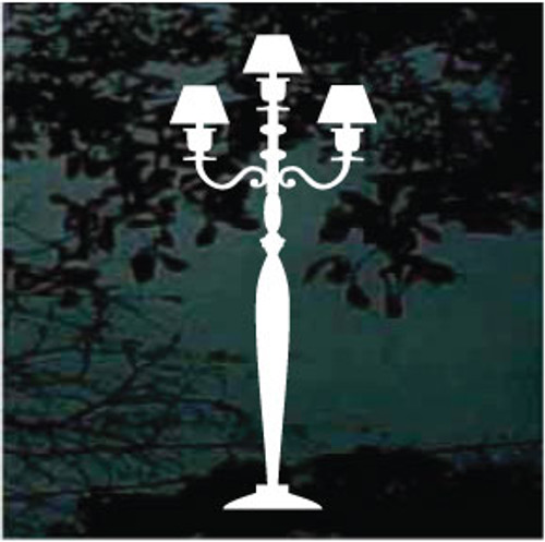 Decorative Pole Lamp Decals