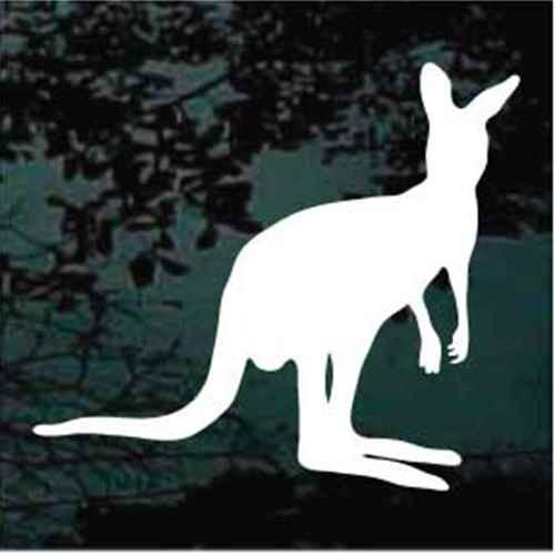 Solid Kangaroo Sitting Window Decals