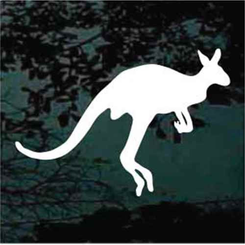 Solid Jumping Kangaroo Window Decals