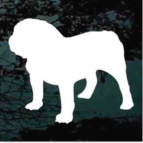 English Bulldog Silhouette Window Decals