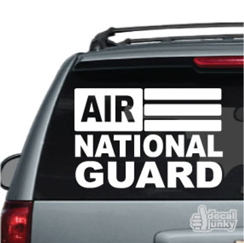 Air National Guard Flag Car Decals