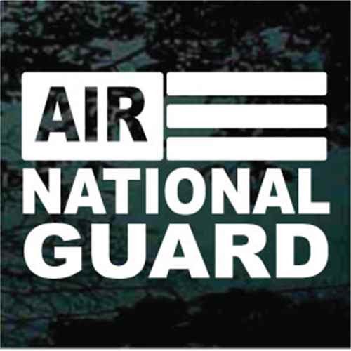 Air National Guard Flag Window Decals