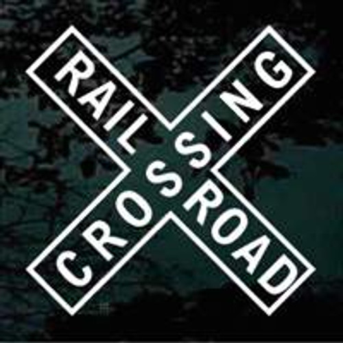 Railroad Crossing Sign Decals