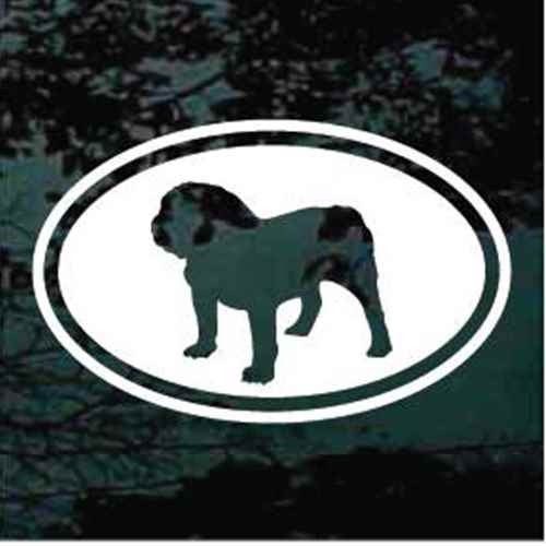 English Bulldog Cut Out Oval Window Decals