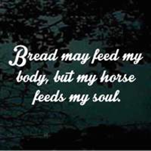 Bread May Feed My Body But My Horse Feeds My Soul Decals