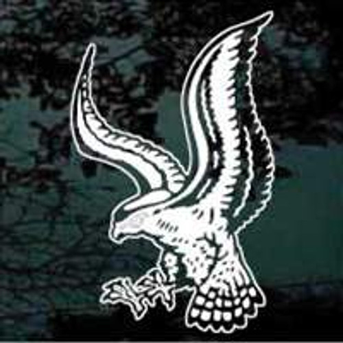 Detailed Falcon Mascot Window Decals