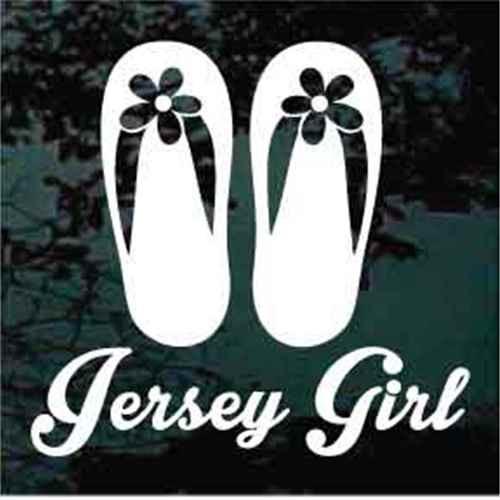 Jersey Girl With Flip Flops