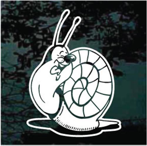 Detailed Cartoon Snail Window Decals