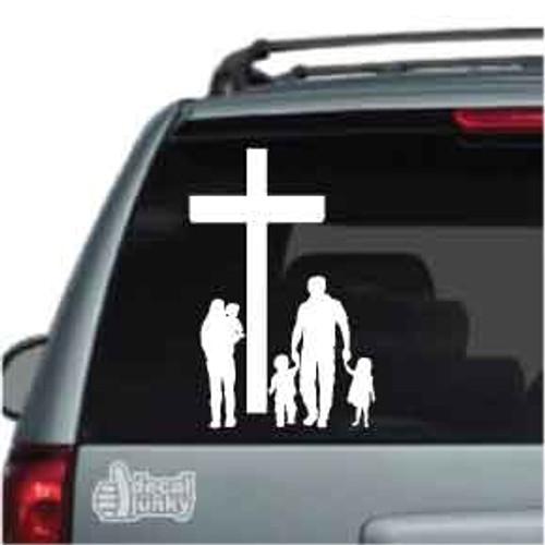 Christian family car decal