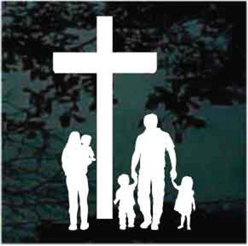 Christian Family Window Decal