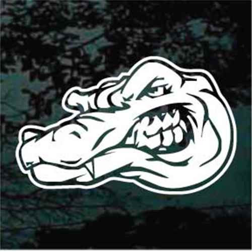 Alligator Head Showing Teeth Window Decals