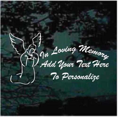 Angel Praying In Loving Memory Window Decals