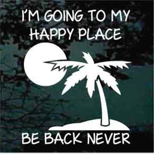 Going To My Happy Place Beach Palm Tree