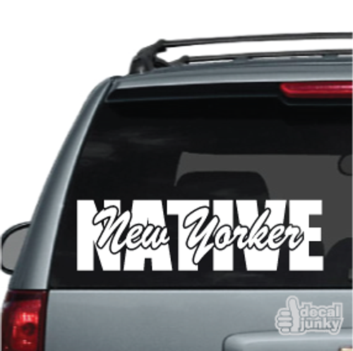 Native New Yorker Car Decals