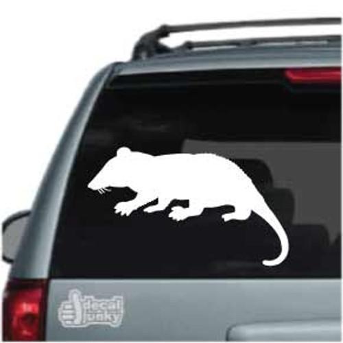 Rat Silhouette Car Decals 01