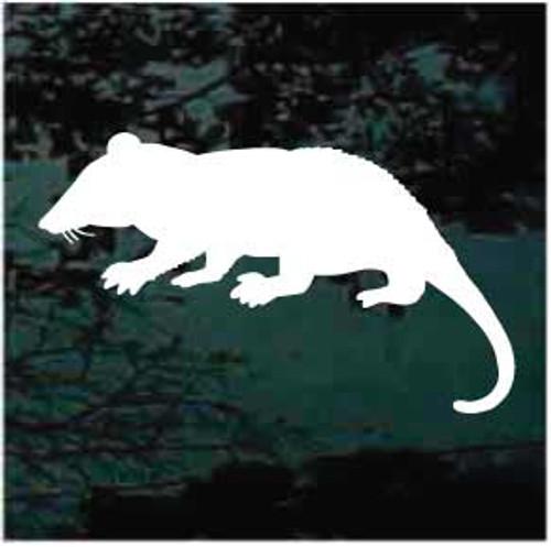 Rat Silhouette Window Decals
