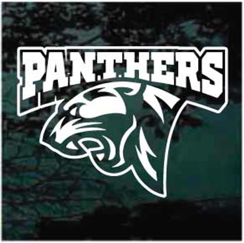 Panthers Mascot Logo Window Decals