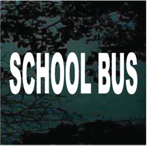 School Bus Lettering Decals