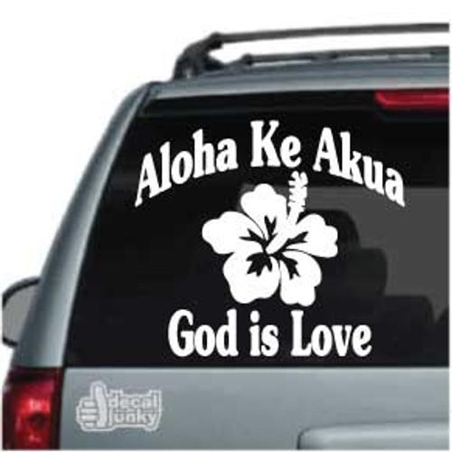 Hawaiian Aloha Ke Akua Car Decal