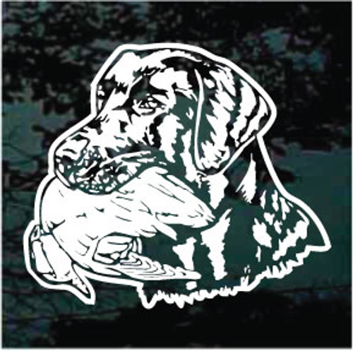 Labrador Retriever Detailed Head With Duck Window Decal
