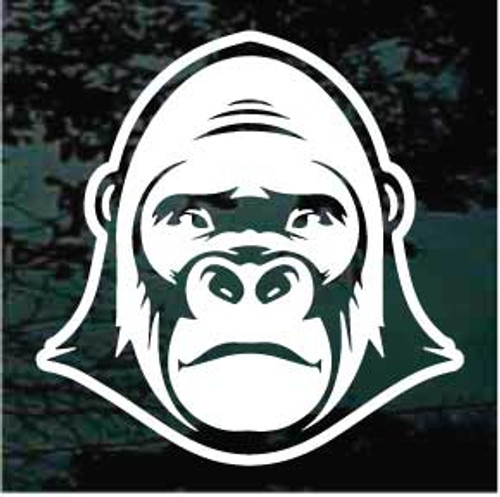 Cartoon Gorilla Head Decals