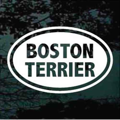 Boston Terrier Oval Window Decal